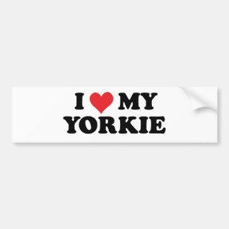 Ik houd van Mijn Yorkie Bumpersticker