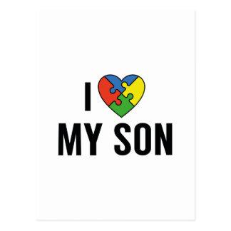 Ik houd van Mijn Zoon Briefkaart