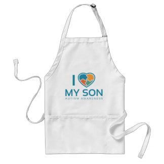 Ik houd van Mijn Zoon Standaard Schort