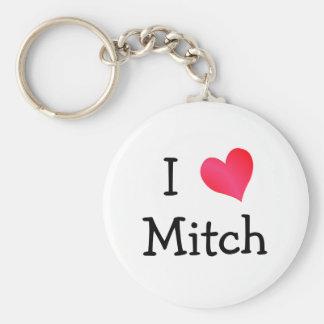 Ik houd van Mitch Basic Ronde Button Sleutelhanger