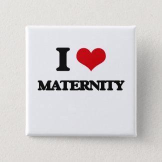 Ik houd van Moederschap Vierkante Button 5,1 Cm