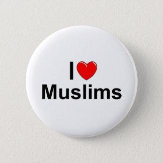 Ik houd van Moslims (van het Hart) Ronde Button 5,7 Cm