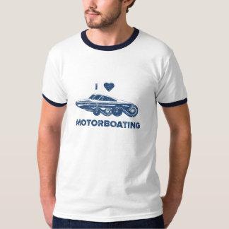 Ik houd van motorboating t shirt
