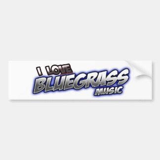 Ik houd van Muziek BLUEGRASS Bumpersticker