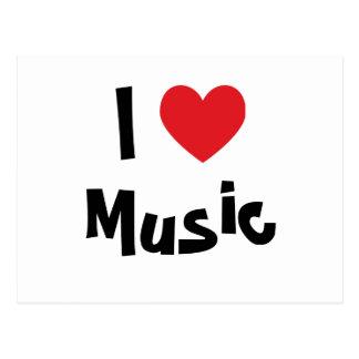Ik houd van Muziek Briefkaart