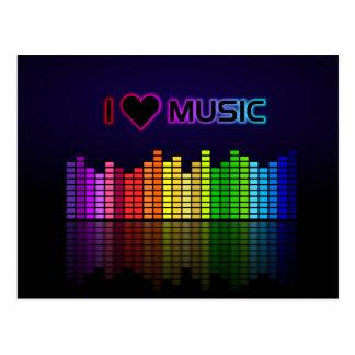 Ik houd van Muziek met Equilizer Briefkaart