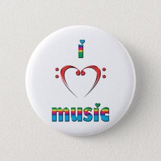 Ik houd van Muziek Ronde Button 5,7 Cm