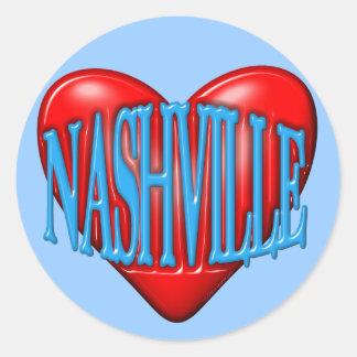 Ik houd van Nashville Ronde Sticker