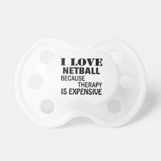 Ik houd van Netball omdat de Therapie Duur is Fopspeentjes