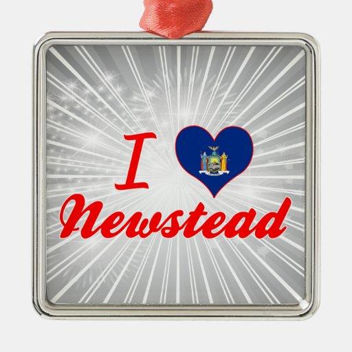 Ik houd van Newstead, New York Kerstboom Ornamenten