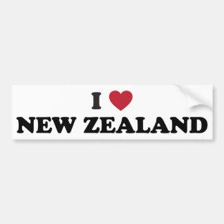 Ik houd van Nieuw Zeeland Bumpersticker