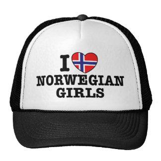 Ik houd van Noorse Meisjes Trucker Petten