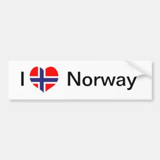 Ik houd van Noorwegen Bumpersticker