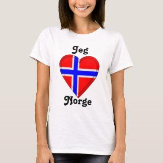 Ik houd van Noorwegen - Jeg elsker Norge T Shirt