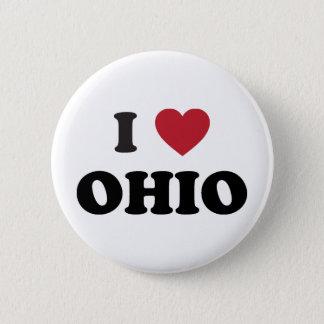 Ik houd van Ohio Ronde Button 5,7 Cm