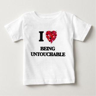 Ik houd van Onaanraakbaar zijnd Baby T Shirts