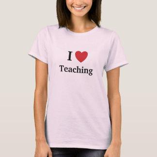 Ik houd van onderwijzend het Onderwijs van me T Shirt
