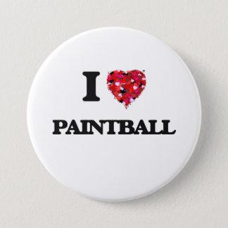 Ik houd van Paintball Ronde Button 7,6 Cm