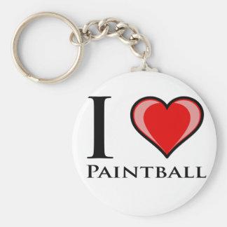 Ik houd van Paintball Sleutelhanger