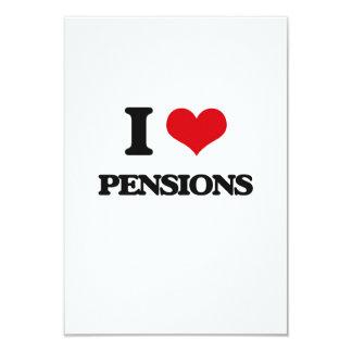 Ik houd van Pensioenen 8,9x12,7 Uitnodiging Kaart
