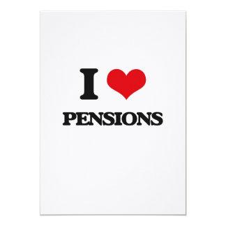 Ik houd van Pensioenen 12,7x17,8 Uitnodiging Kaart