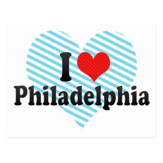 Ik houd van Philadelphia Briefkaart