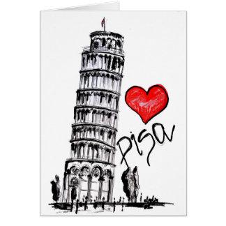 Ik houd van Pisa Wenskaart