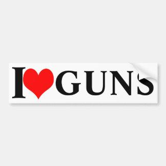 Ik houd van pistolen! bumpersticker