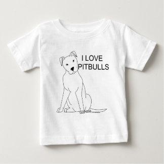 Ik houd van Pitbulls Baby T Shirts
