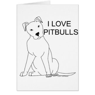 Ik houd van Pitbulls Wenskaart