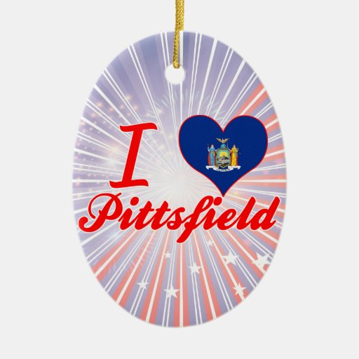Ik houd van Pittsfield, New York Kerstboom Ornament