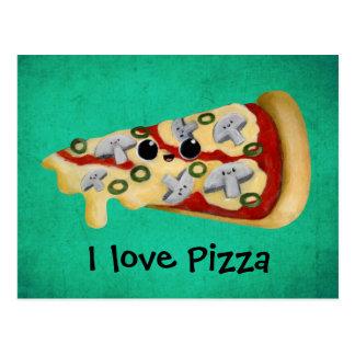Ik houd van Pizza Briefkaart