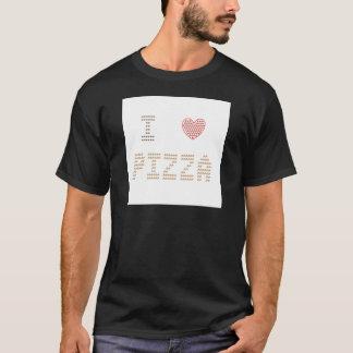 Ik houd van Pizza/de Pizza van het Hart van I - T Shirt