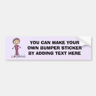 Ik houd van pleeg T-shirts en Giften Bumpersticker