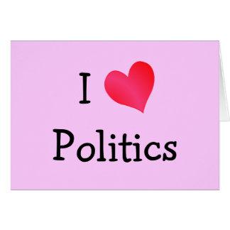 Ik houd van Politiek Briefkaarten 0