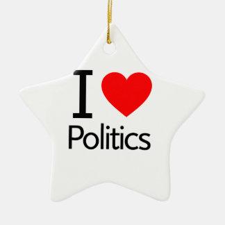 Ik houd van Politiek Keramisch Ster Ornament