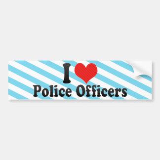 Ik houd van Politiemannen Bumpersticker