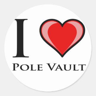 Ik houd van Polsstokspringen Ronde Sticker