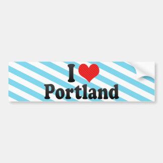 Ik houd van Portland Bumpersticker