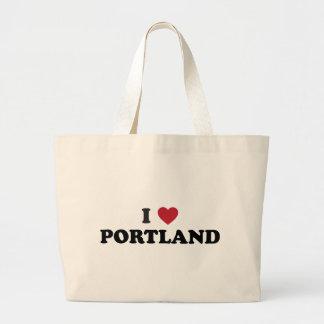 Ik houd van Portland Oregon Tassen