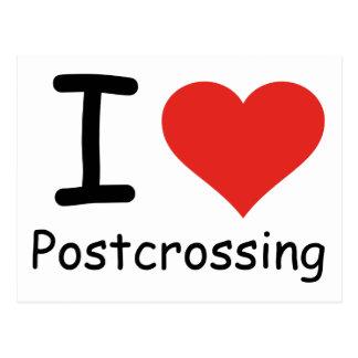Ik houd van Postcrossing Briefkaart