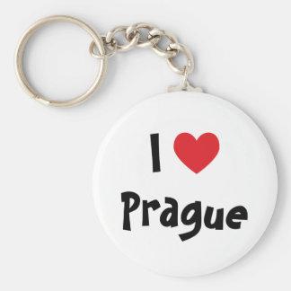 Ik houd van Praag Basic Ronde Button Sleutelhanger
