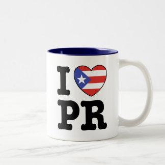 Ik houd van Puerto Rico Tweekleurige Koffiemok