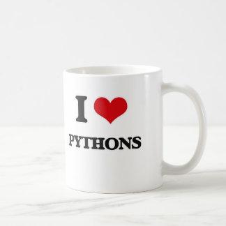 Ik houd van Pythonnen Koffiemok