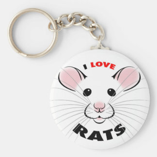 Ik houd van Ratten Keychain Sleutelhanger