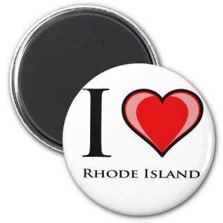 Ik houd van Rhode Island Magneet