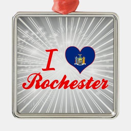 Ik houd van Rochester, New York Kerstboom Ornamenten