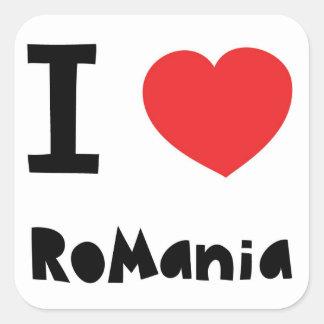 Ik houd van Roemenië Vierkante Sticker