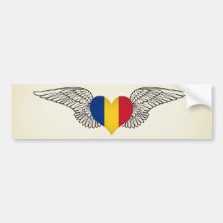 Ik houd van Roemenië - vleugels Bumpersticker