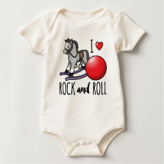 Ik houd van Rots - en - broodje Baby Shirt